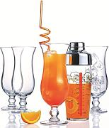 Luminarc, Serie Hurricane, Cocktail-Starter-Set, 5-teilig