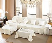 LY&HYL All-Saison Heimtextilien Volle Deckung Einfarbig dicker Baumwolle Sofabezug , classic white , 210*300Sofa Cover