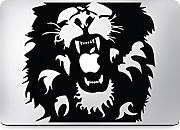 Macbook Sticker Lion Löwe King of the jungle Aslan Decal Aufkleber Apple (Macbook Pro Touch & Air 13, Rot)
