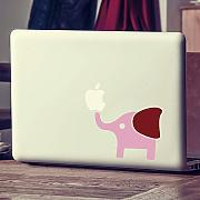 "mairgwall Sticker Aufkleber Mac Macbook Elephant Aufkleber Mac Cover Art Decor, Vinyl, Custom, 4""h x5""w"
