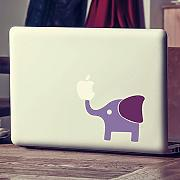 mairgwall Sticker Aufkleber Mac Macbook Elephant Aufkleber Mac Cover Art Decor (Korpus: Hortensie lila; Ohr: violett)