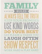 "Maltafel We R Memory Keepers, Aufschrift ""Family Rules"""