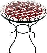 gartentische rund rot g nstig online kaufen lionshome. Black Bedroom Furniture Sets. Home Design Ideas