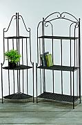 produktbild metallregal gartenregal eisenregal regal aus eisen in schwarz h he 143cm x 60. Black Bedroom Furniture Sets. Home Design Ideas