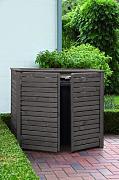 m lltonnenboxen muelltonnenbox 120 liter holz g nstig online kaufen lionshome. Black Bedroom Furniture Sets. Home Design Ideas