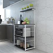 Multifunktions-Küchenregal Mikrowelle Ofen Regal Küche Regal Boden Stand Creative Multi-Regal Multifunktions Incorporated Storage Rack CHUFZWJ- Kitchen Storage rack and Shelf ( Farbe : B )
