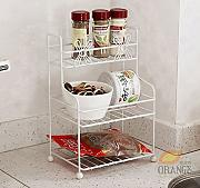 Multifunktions-Küchenregal Mini-Küche Badezimmer Regal Bad Regallager mehrschichtige Trompete Eisen kleines Regal CHUFZWJ- Kitchen Storage rack and Shelf