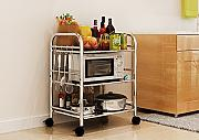 Multifunktions-Küchenregal Regale Küchenregale Mikrowelle Bodenständer Speicherfach Multi-Rack Schüssel Regal Backofenrost CHUFZWJ- Kitchen Storage rack and Shelf ( größe : Long 50cm )