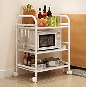 Multifunktions-Küchenregal Regale Küchenregale Mikrowelle Bodenständer Speicherfach Multi-Rack Schüssel Regal Backofenrost CHUFZWJ- Kitchen Storage rack and Shelf ( größe : Long 40cm )