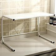 Multifunktions-Küchenregal Weiß M Wort Regal Küchenregal Halterung Regal Continental Eisen Mikrowellenherd Rack Küchenregal CHUFZWJ- Kitchen Storage rack and Shelf