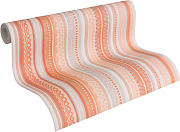Mustertapeten - Oilily Home Papiertapete Oilily Young Beige, Creme, Orange