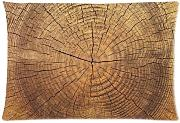 Natural Tree Ring Background Comfortable Cotton&Polyester Pillowcase/Pillow slip/Cushion case/pillow cover(Two Side Printing,30inch*20inch)