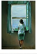 New imagesaffiche 50 x 70 cm Fenster am Fenster Charakter/Person,/Person am Fenster