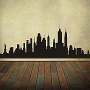 "New York City Skyline Wand Aufkleber Vinyl ctiy Wand Aufkleber New York Art Wand Skyline Aufkleber Wand Graphic Home Wand-Dekoration, Vinyl, schwarz, 36""x96"""