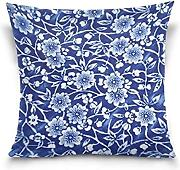 Produktbild: Nostalgiaz Chinese Style Flower Pattern Pillow Cover, 18 x 18 inches