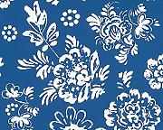 Produktbild: Oilily Home Tapete Oilily Atelier, florale Mustertapete, blau, weiß, 302721