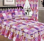 patchwork tagesdecke pink g nstig online kaufen lionshome. Black Bedroom Furniture Sets. Home Design Ideas