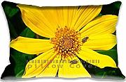 Produktbild: Pillow case/Kissenbezüge Yellow Flower Unique Designs , Fashion Nature Style Pillowcase/Kissenbezüge Covers , Personalized Diy Cushion Cover for Home Office and Car