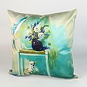 Pillow,Simulation Silk American Sofa Cushion Cover,Cushion Pillow-A 45x45cm(18x18inch)VersionB