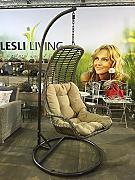 produktbild poly rattan h ngekorb h ngesessel gartenm bel h ngeschaukel h ngesitz lounge in grau. Black Bedroom Furniture Sets. Home Design Ideas