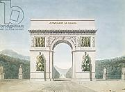 "Poster-Bild 30 x 20 cm: ""Design for the Arc de Triomphe with a wooded background (pen & ink on paper)"", Bild auf Poster"