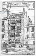 "Poster-Bild 30 x 50 cm: ""Design for Studios at Bedford Gardens, Campden Hill, London, from The Building News, May 4 1883 (litho)"", Bild auf Poster"