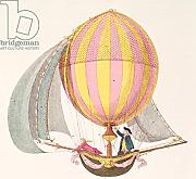 "Poster-Bild 70 x 70 cm: ""Design for a dirigible, French, c.1785 (engraving)"", Bild auf Poster"