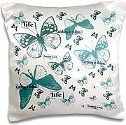 Produktbild: PS Inspirations - Inspirational Butterfly Collage Catch A Dream - 16x16 inch Pillow Case (pc_164584_1)