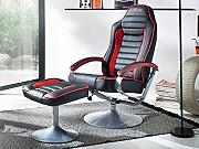 "Relaxsessel Lesesessel Sessel Relaxstuhl TV-Sessel mit Hocker ""MC Racing"""