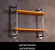 Retro Wand Hanging Industry Style Regal Bar Creative Home Bekleidung Shop Wanddekoration Storage Rack ( stil : #5 )