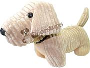 Produktbild: Ribbed standing doggy doorstop - Golden Sand dog door stop by tmh