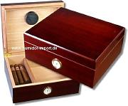 Rosewood-Finish Humidor V-380