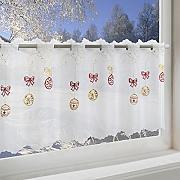 Moderne scheibengardinen g nstig online kaufen lionshome - Bistrogardine weihnachten ...