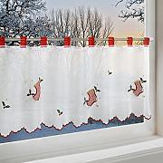 scheibengardinen scheibengardine weihnachten g nstig. Black Bedroom Furniture Sets. Home Design Ideas