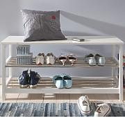 schuhregale schuhregal weiss holz g nstig online kaufen lionshome. Black Bedroom Furniture Sets. Home Design Ideas