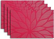 Produktbild: Secret Life(TM) Set of 4 Big Daisy Flower Style Vinyl Woven Dinner Table Placemat Set (4, Daisy Pink)