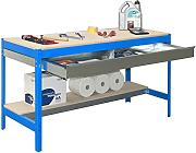 simonrack 448100945906092 Kit BT/3 Box 900-Set Werkbank blau/Holz