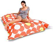 Sitzsack Nightflower Farbe (Dekor): Orange / Gelb