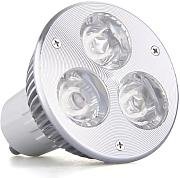 SODIAL(R) GU10 3W 3 LED High Power Lampe Spot Licht Birne Leuchte DC 12V Warmweiss