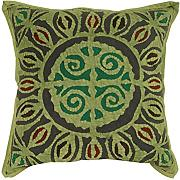 Sofakissen geometrisch Baumwolle Pillow cover Sofa grün Traditional design pillow case Wohnzimmer 43x43 Kissenbezüge einzeln Indisch Kissenhülle By Rajrang