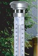 Solar beleuchtetes Gartenthermometer Thermometer Max Höhe 55cm