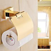Solid gold Bad Accessoires Bronze Toilettenpapierhalter , golden