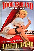 Spielzeug Dekoschild Geschenk Sexy PinUp Tool in Hand Garage Full Service Auto Repair Deko 20x30cm Nostalgie Metal Sign XF66DO