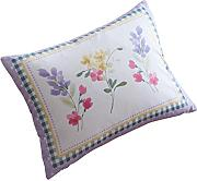 "Spring Breeze, mit Wasserfarbe Florals, Tropen-Design, Polyester, Pink ( White Lime Green Purple Yellow ), Floral Boudoir Cushion - 15"" x 11"""