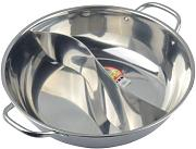 Stainless steel fondue pot mandarin duck pot chafing dish by SOGNIMIEI