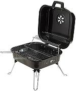 Standgrill Holzkohle Picknickgrill schwarz Campinggrill 3 x Grillrost
