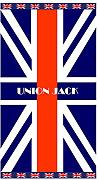 Strandtuch Union Jack Handtuch, Frottee, Velours, Jacquard 95 x 175 cm