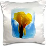 Produktbild: Susans Zoo Crew Photography Plant - Bright Yellow Flower Blue Sky Watercolor Style - 16x16 inch Pillow Case (pc_156209_1)