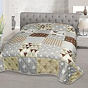 patchwork tagesdecke grau g nstig online kaufen lionshome. Black Bedroom Furniture Sets. Home Design Ideas