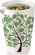 Produktbild: Tea forte 3910239 Kati Green Leaves Keramikbecher